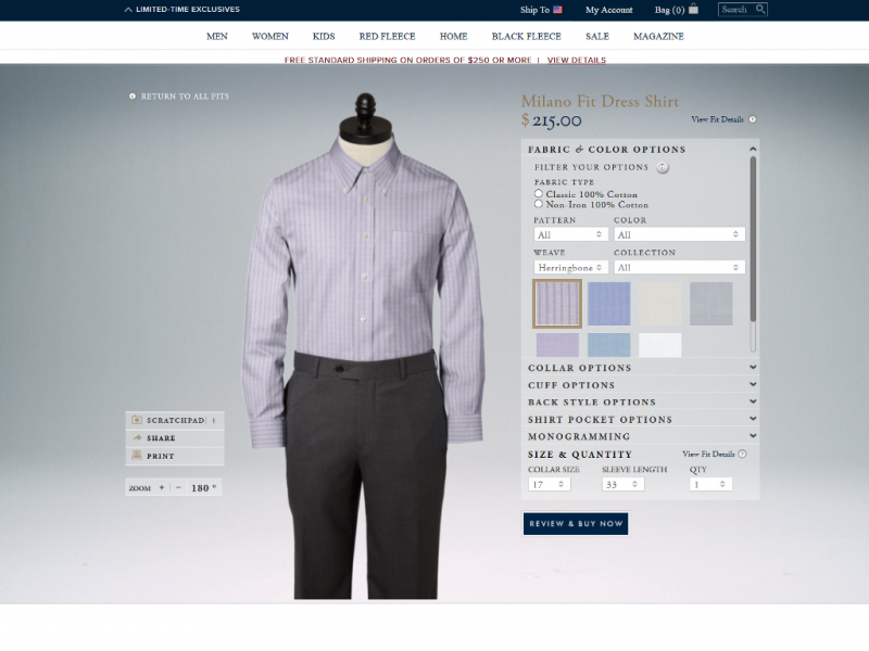 Design A Custom Dress Shirt At Brooks Brothers