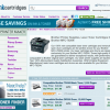 A InkCartridges homepage for a certain printer model.