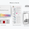 Contents of the 23andMe testing kit.