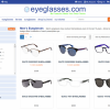 Eyeglasses.com frames search page.