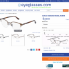 Frames product page on Eyeglasses.com.