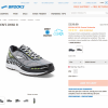 Brooks Shoe Product Page