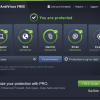 AVG AntiVirus Home Screen