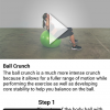 Exercie page from the Jillian Michaels app.