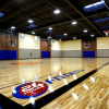 A gym for basketball and volley ball at 24 Hour-Fitness.