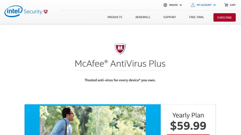 Mcafee Antivirus Plus Home Page