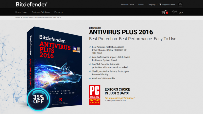 Bitdefender Antivirus Plus Cover
