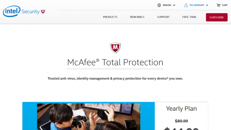 McAfee Total Protection Cover