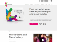 23andMe Home Page