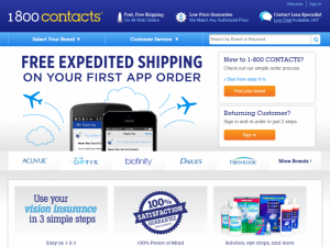 1-800 Contacts Home Page