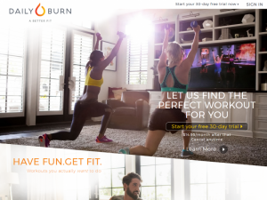 Daily Burn Home Page