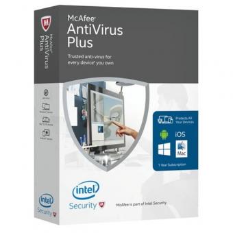 Mcafee Antivirus Plus Box