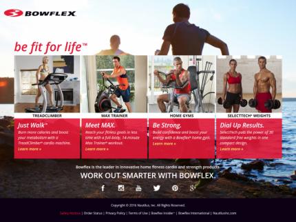 Bowflex Home Page
