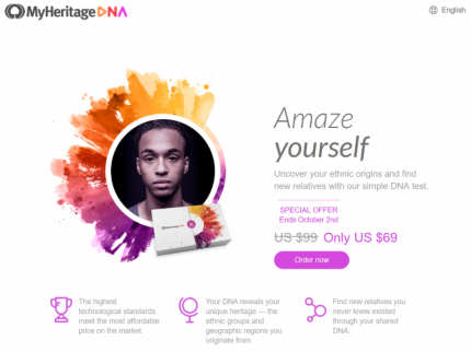 MyHeritage DNA Home Page