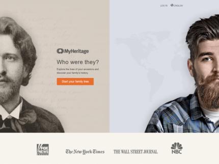 MyHeritage Homepage