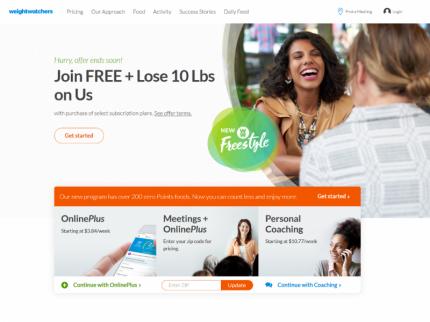 Weight Watchers Homepage