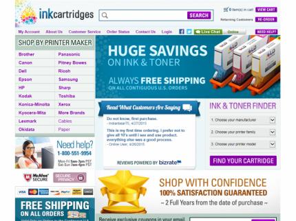InkCartridges.com Home Page