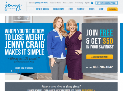 Jenny Craig Home Page