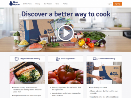 Blue Apron Home Page