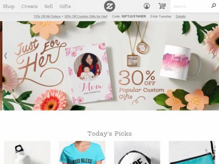 Zazzle Home Page