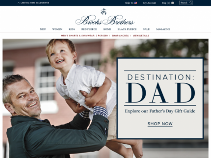Brooks Brothers Home Page